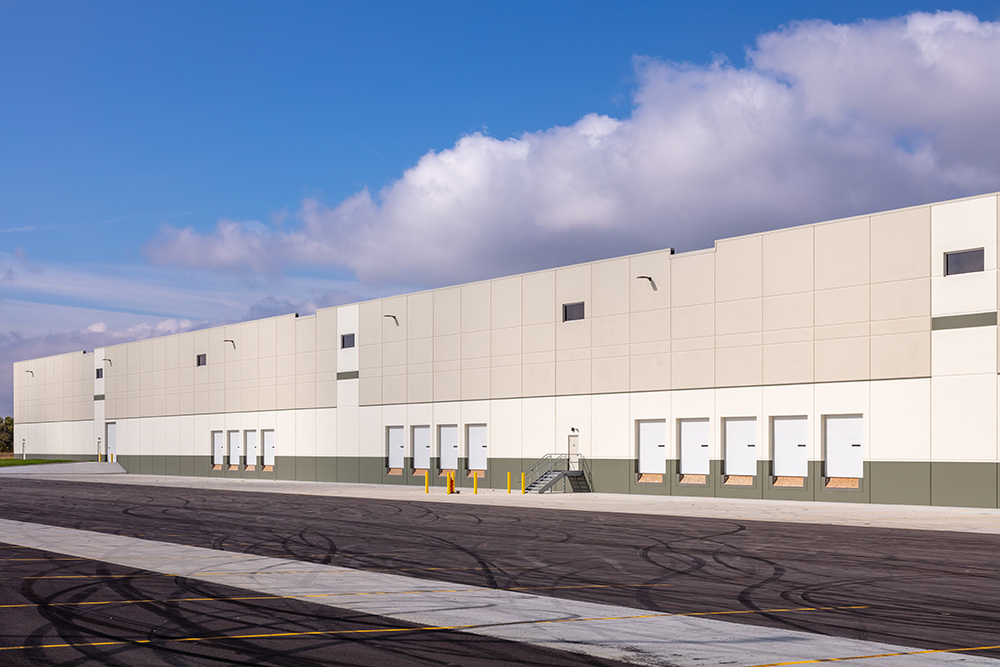Dock view of Rock Creek Logistics Center in Illinois by Opus