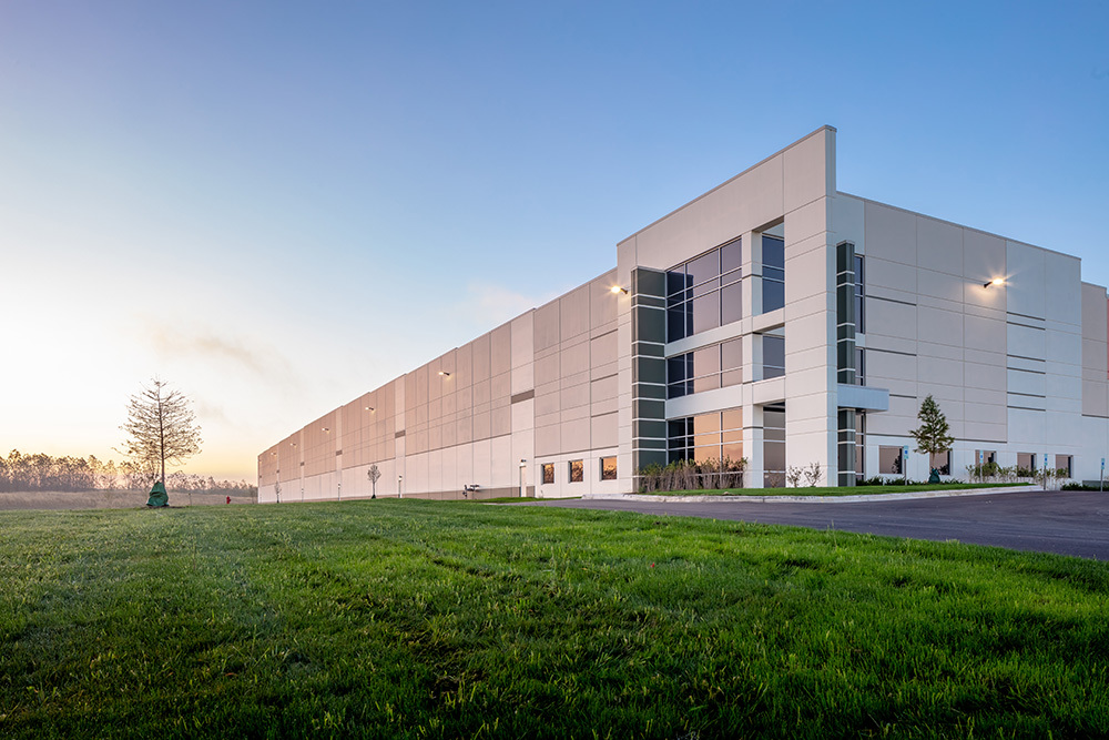 Exterior of Rock Creek Logistics Center in Illinois by Opus