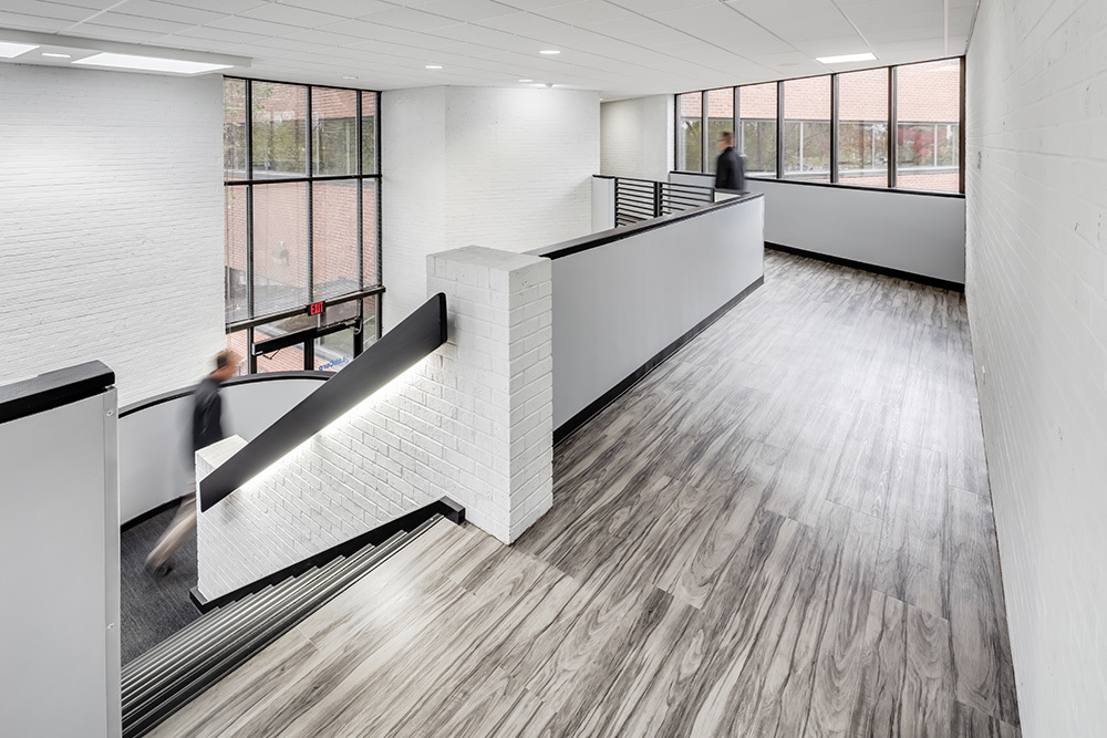 Renovated interiors of LabCorp office value add in Overland Park, KS