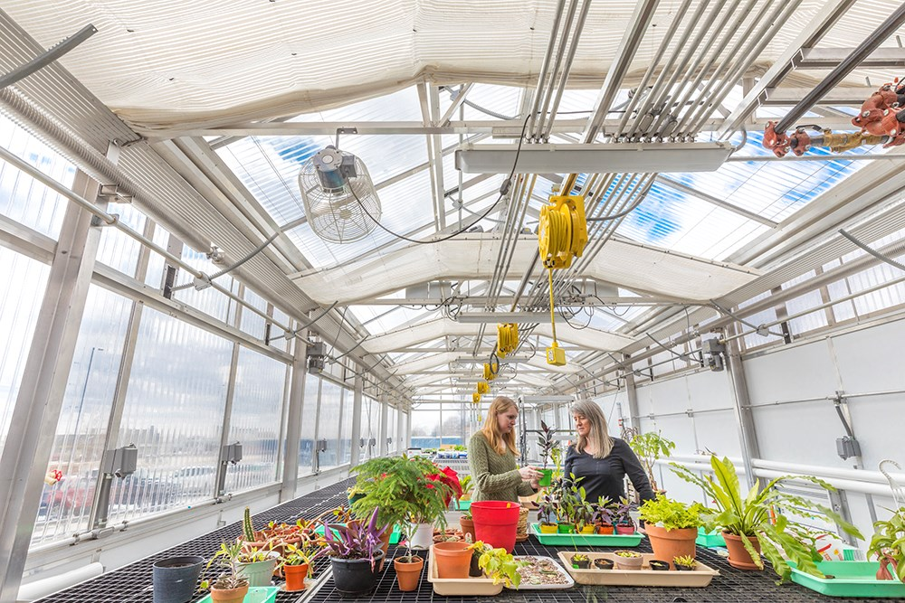Northwestern College Health Natural Sciences Greenhouse built by Opus Design Build.