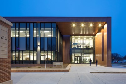 Northwestern College Health Natural Sciences Exterior built by Opus Design Build