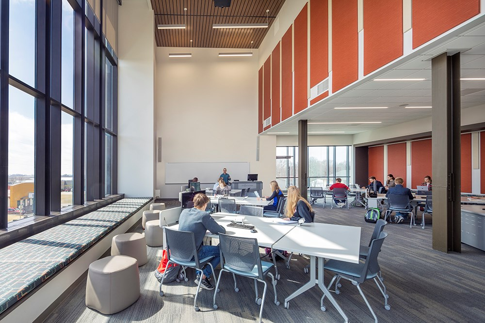 Northwestern College Health Natural Sciences Collaborative Study Lab built by Opus Design Build.