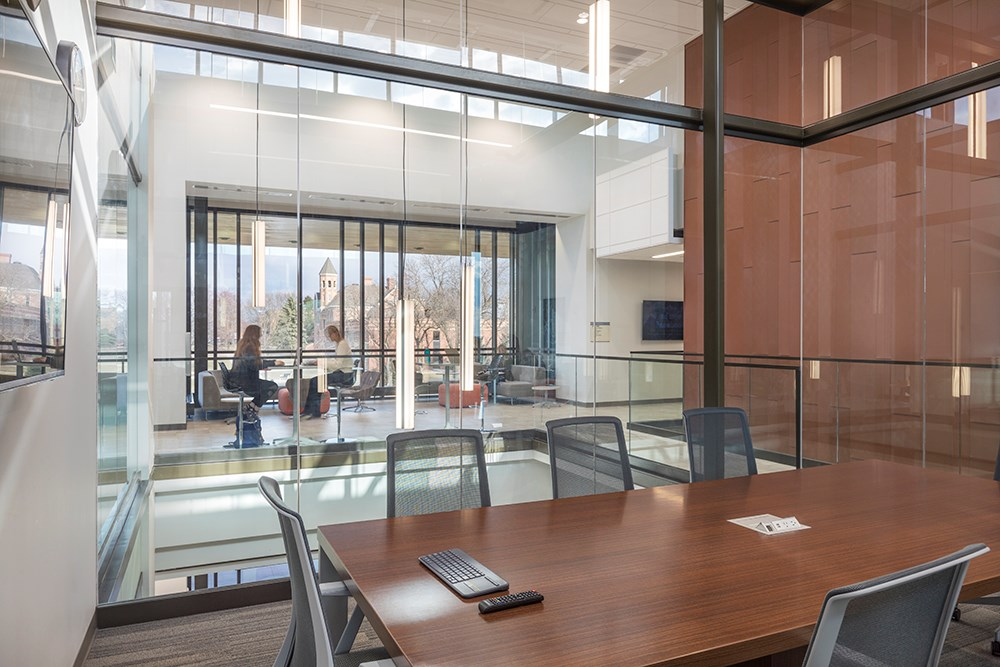 Northwestern College Health Natural Sciences Conference Room built by Opus Design Build.