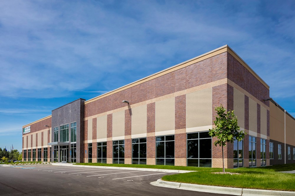 Suburban Minneapolis industrial warehouse development by Opus