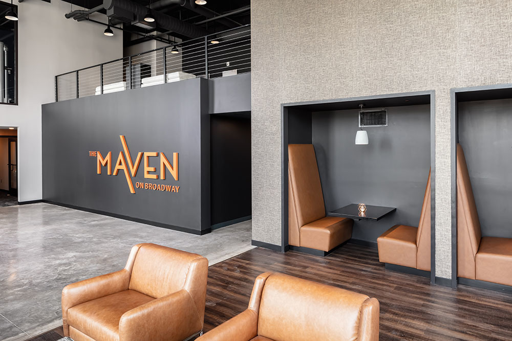 The Maven on Broadway Multifamily lobby