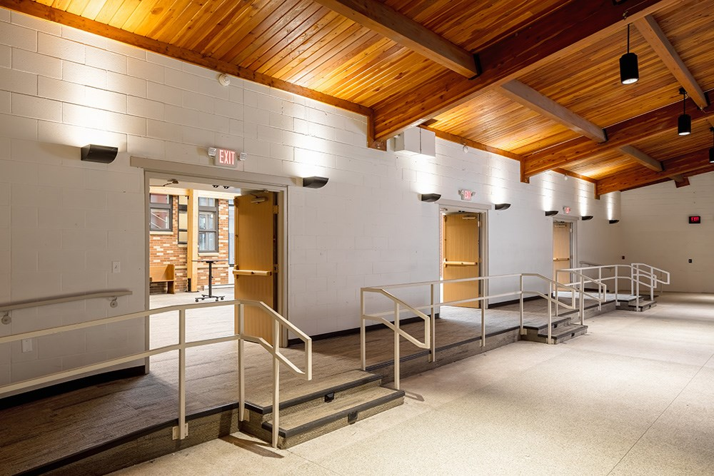 Saint Joan of Arc Catholic Community (Minneapolis) welcome center by Opus Design Build, L.L.C. and Opus AE Group, L.L.C.