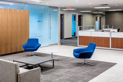 A suburban Minneapolis Office TI completed by Opus' Client Direct Services