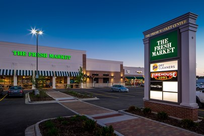 The Fresh Market Center was developed by the Opus Development Company retail team.