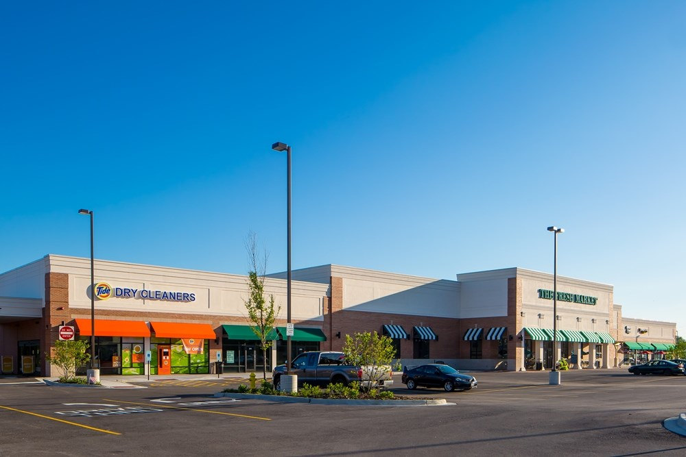 The Opus Group developed and built The Fresh Market Center.