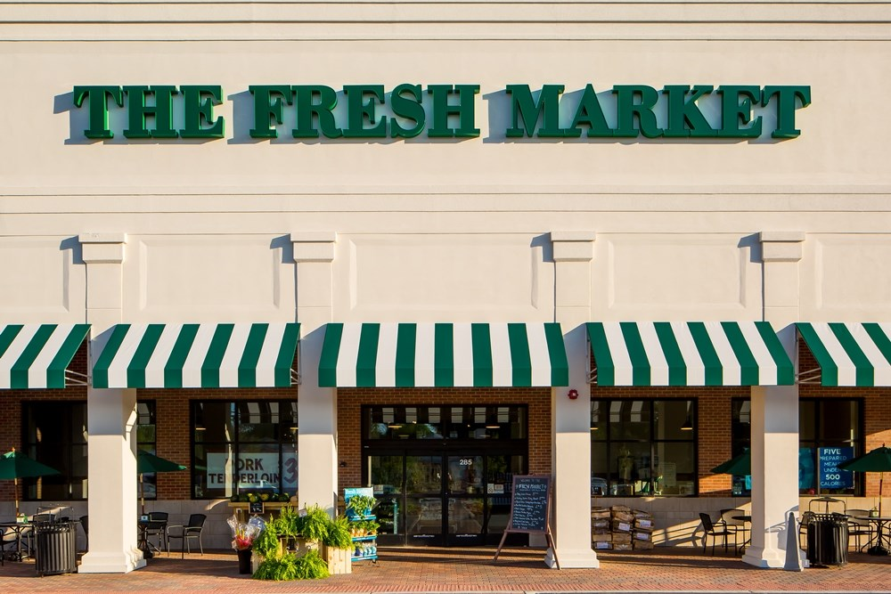 The Fresh Market Center was developed by Opus Development Company.