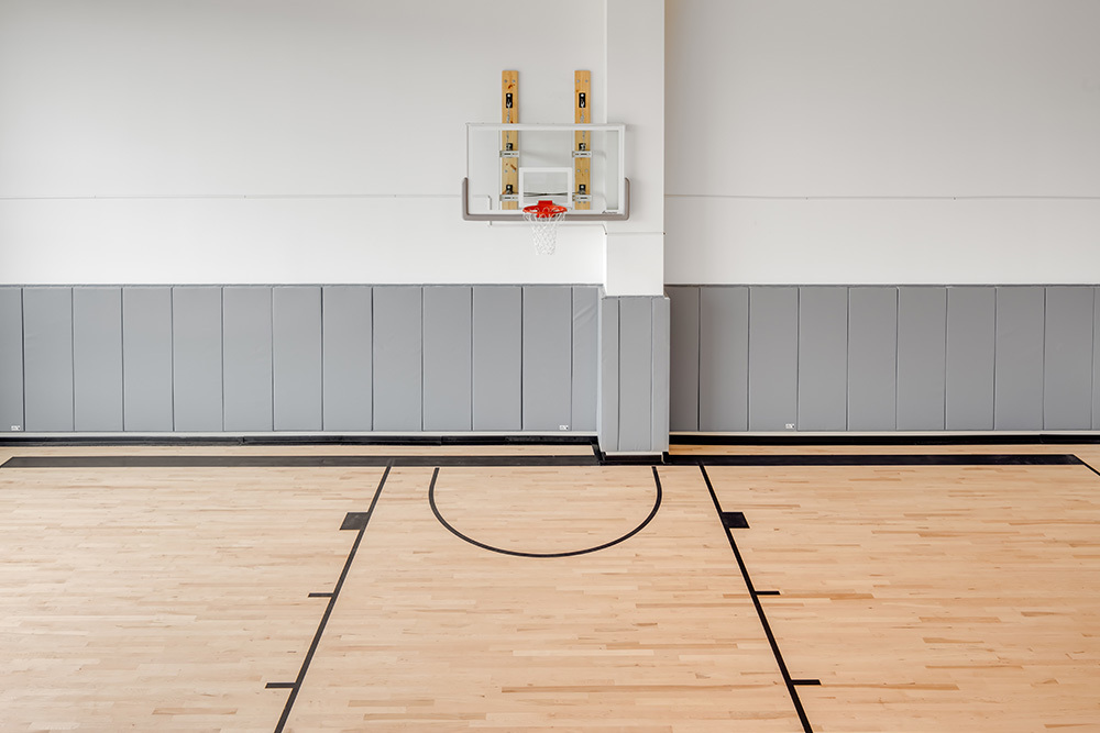 wellness basketball court of Seven07 U of I Student Living Development in Illinois