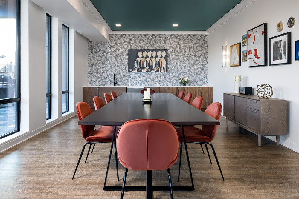 amenity clubroom dining in Vesi apartment development