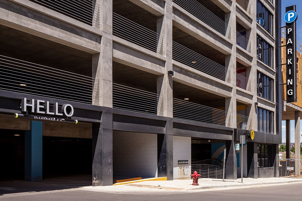 Westminster's green public parking garage by Opus