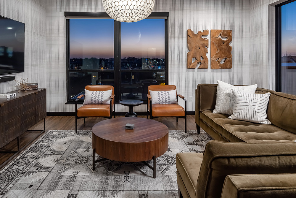 Westley on Broadway Apartment amenity clubroom