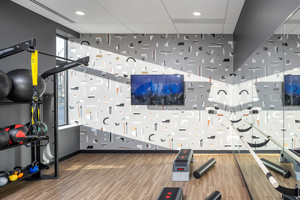 Westley on Broadway Apartment amenity fitness center